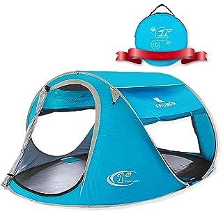 ZOMAKE Tenda da Spiaggia Portatile per Bambini Esterni, 3 - 4 Persone Pop up tenda Con Protezione Solare ( Blu chiaro) ZOMAKER
