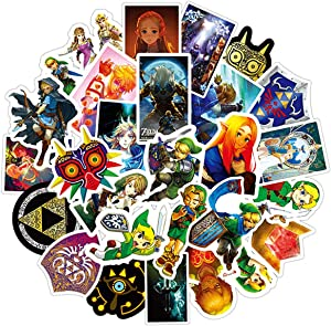 50pcs Zelda Vinyls Stickers Laptop Sticker Waterproof Stickers Luggage Skateboard Water Bottle Stickers Decal Bicycle Bumper Snowboard Decorate Gift for Kid. (Zelda)