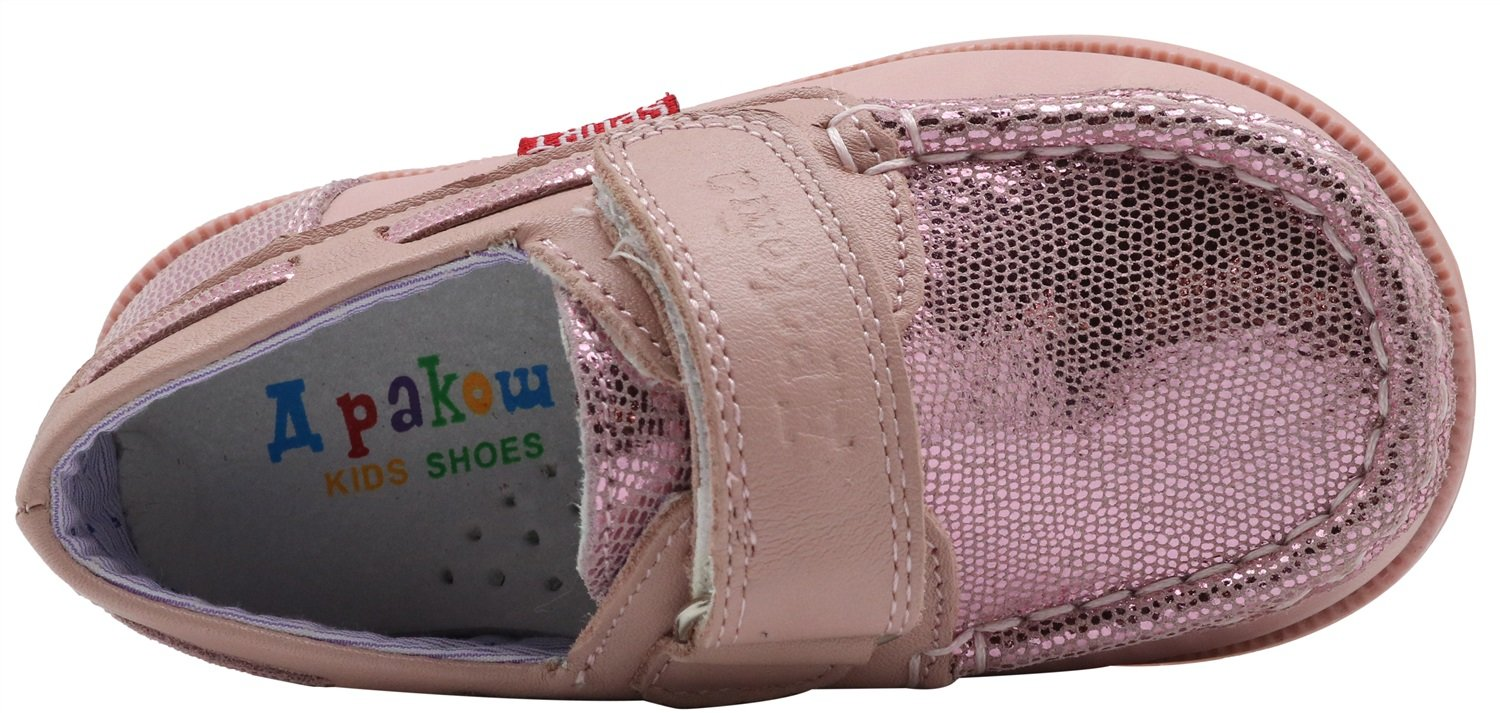 Non-Slip Kids Toddler Girls Leather Casual Sneaker Shoes Loafers Boat Shoes Durable Color : Pink , Size : 5 M US Toddler
