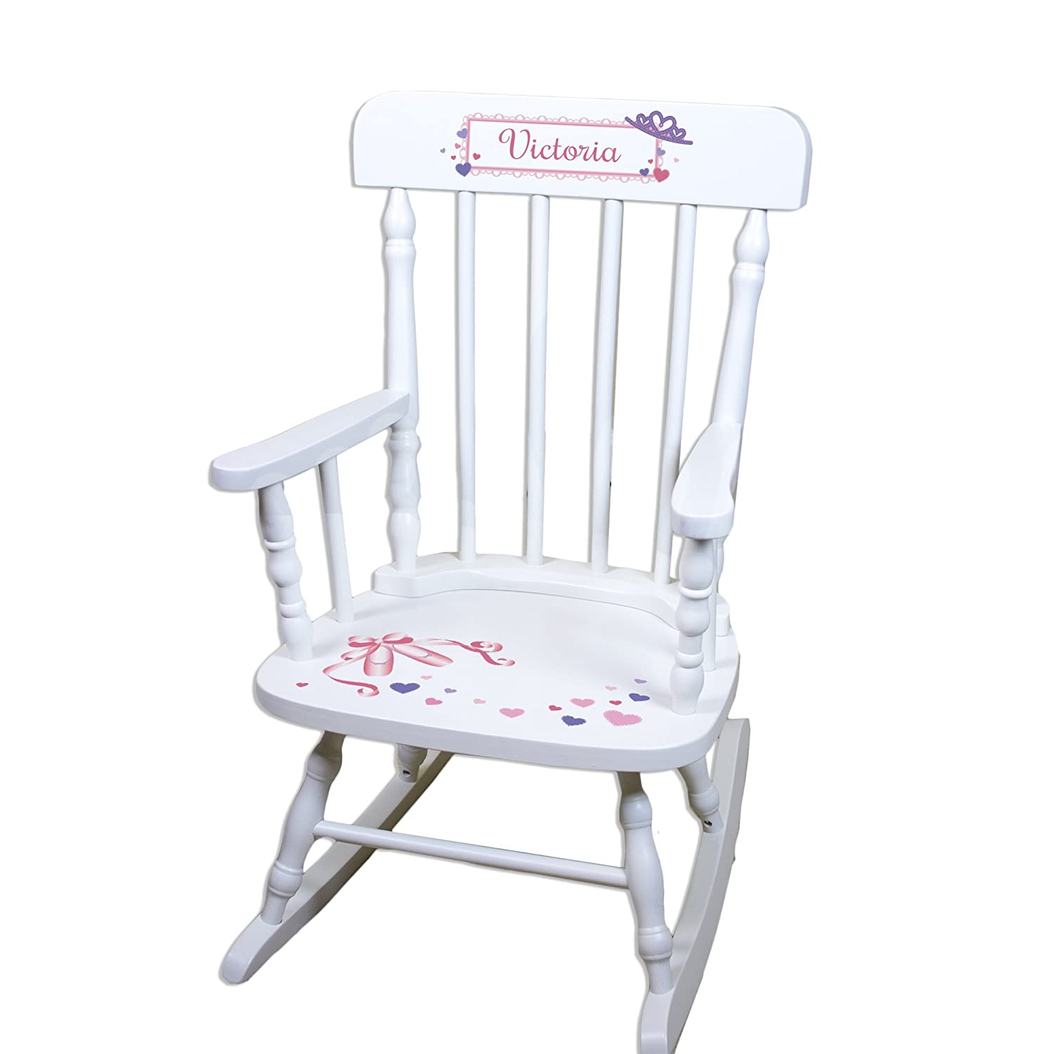 high-quality Childrenu0027s Personalized White Ballet Princess Rocking Chair  sc 1 st  Vancouver Gardening and Landscaping Services & high-quality Childrenu0027s Personalized White Ballet Princess Rocking ...