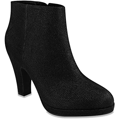 Women's BAEBI Glittered Fashion Ankle Boot Bootie