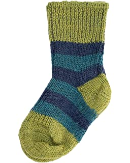 1545bd7ef8b76 Hirsch Natur, Striped Socks for Babies and Children, 100% Organic Wool