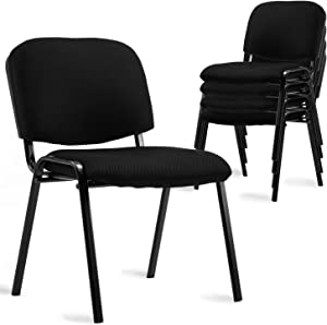 Stacking Chairs, Low Back Stackable Chairs with Mesh Upholstery for Trainging Room, Reception Room, Conference Room, Set of 5 …