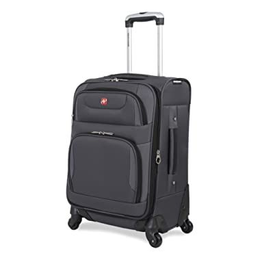 SwissGear Spinner Luggage Collection Gray 20  Spinner