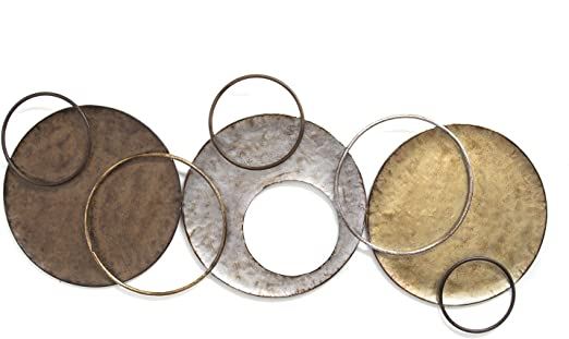 Stratton Home Decor Spc 999 Interlocking Circles Metal Wall Decor