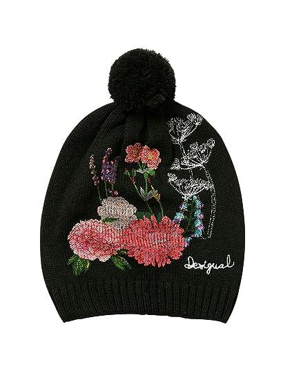Womens Hat_Botanic Beanie, Black (Negro 2000), One Size (Manufacturer Size: U) Desigual