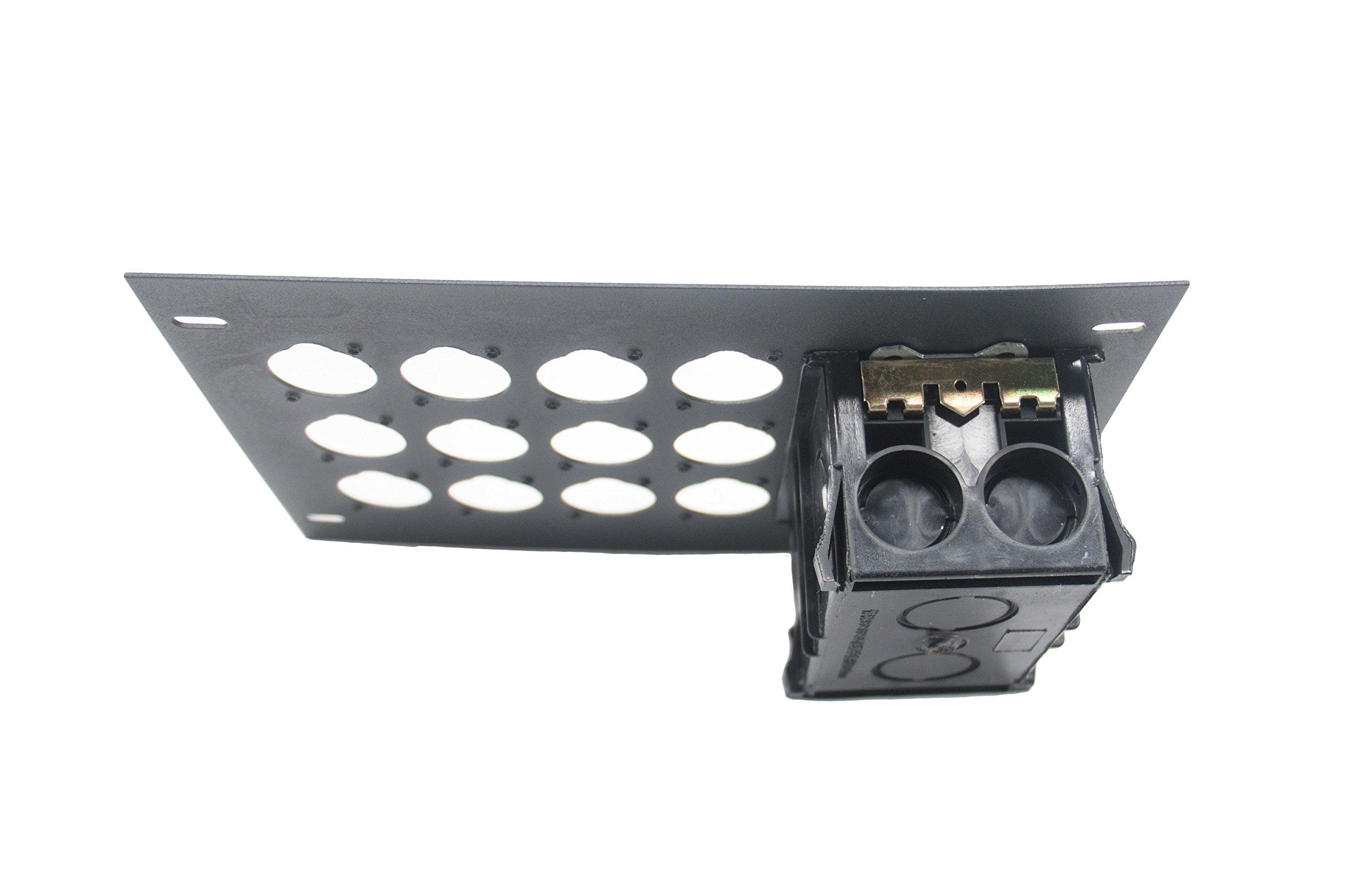 Elite Core FBL-PLATE-12+AC Plate for FBL Floor Box With AC Duplex - no connectors by Elite Core (Image #1)