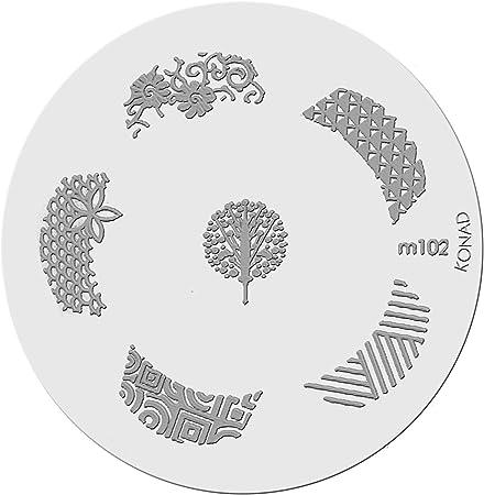 Placa de Diseños Konad Original. m102, Plantilla para uñas Konad España.: Amazon.es: Hogar