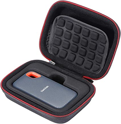 ESCOCO Voyage Stockage Porter /Étui Housse pour SanDisk Extreme//SanDisk Extreme Pro Disque Flash SSD Portable 250 Go//500 Go//1 to//2 to