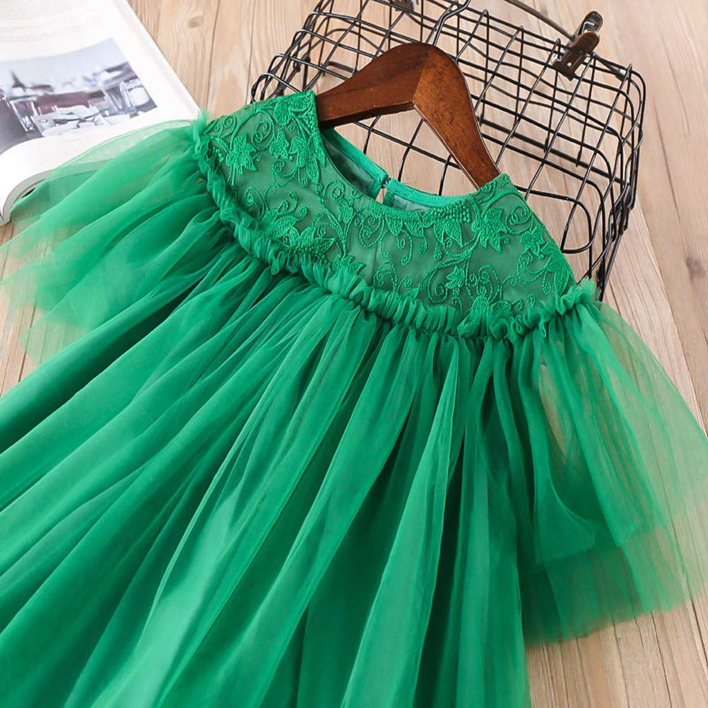 Sameno Fashion Toddler Kids Baby Girls Clothes Lace Embroidery Tulle Party Princess Dresses