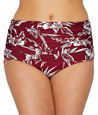 e400f59b2a5e2 Amazon.com: Miraclesuit Women's Hibiskiss Norma Jean Retro Bottom ...