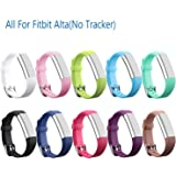 mtsugar Colorful Newest Fitbit Alta /Fitbit Alta HR Replacement Wristband With Secure Clasps(No tracker, Replacement Bands Only)