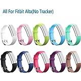 mtsugar Fitbit Alta/Fitbit Alta HR Colored bracelet de remplacement avec fermoirs Secure accessoire (pas de Tracker, les bandes de remplacement seulement)