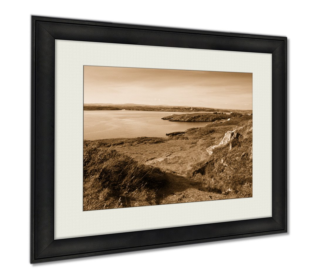 Ashley Framed Prints Baltimore Ireland Coast Line Of Baltimore The Main Village In The Parish Of, Wall Art Home Decoration, Sepia, 34x40 (frame size), AG6326491