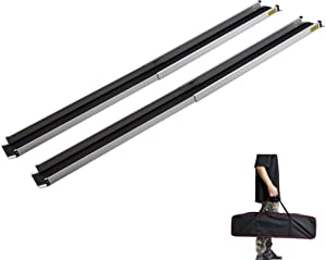 Wheelchair Ramps for Steps, gardhom 5FT Folding Portable Traction Antiskid Aluminum Loading Ramp-2 Section Telescopic for Scooters Car Doorways