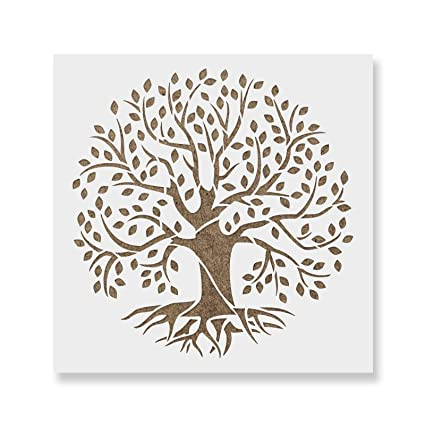 photo relating to Tree of Life Printable known as Tree of Existence Stencil Template - Reusable Stencil with Various Measurements Out there