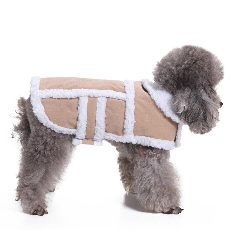 e7cfb195720 RYPET Small Dog Winter Coat - Shearling Fleece Dog Warm Coat for Small to  Medium Breeds