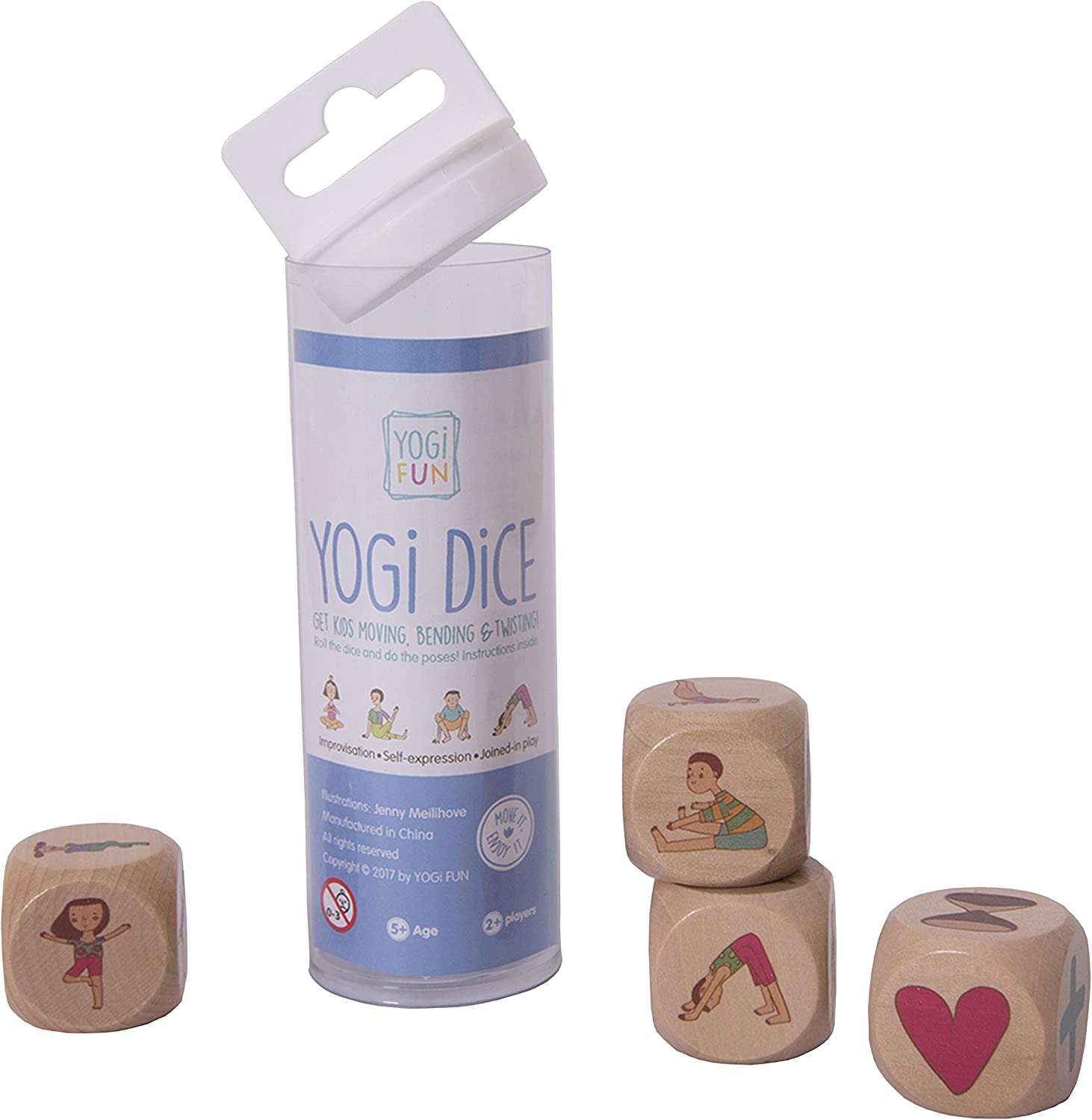 YOGi FUN Kids Yoga dice Game gets Children, Boys and Girls, Moving, Bending and Twisting