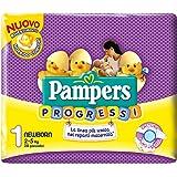 Pampers Progressi Pannolini Newborn, Taglia 1 (2-5 kg), 6 Confezioni da 28 (168 Pannolini)