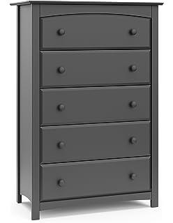 Amazon.com: Storkcraft Kenton 6 Drawer Universal Dresser, Gray, Kids ...