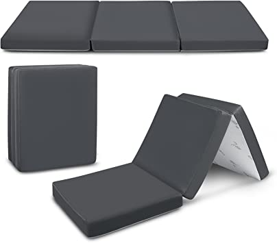Mattress Tri Fold Twin Folding Portable Mattress Guest Camping Sleep Yoga Laying