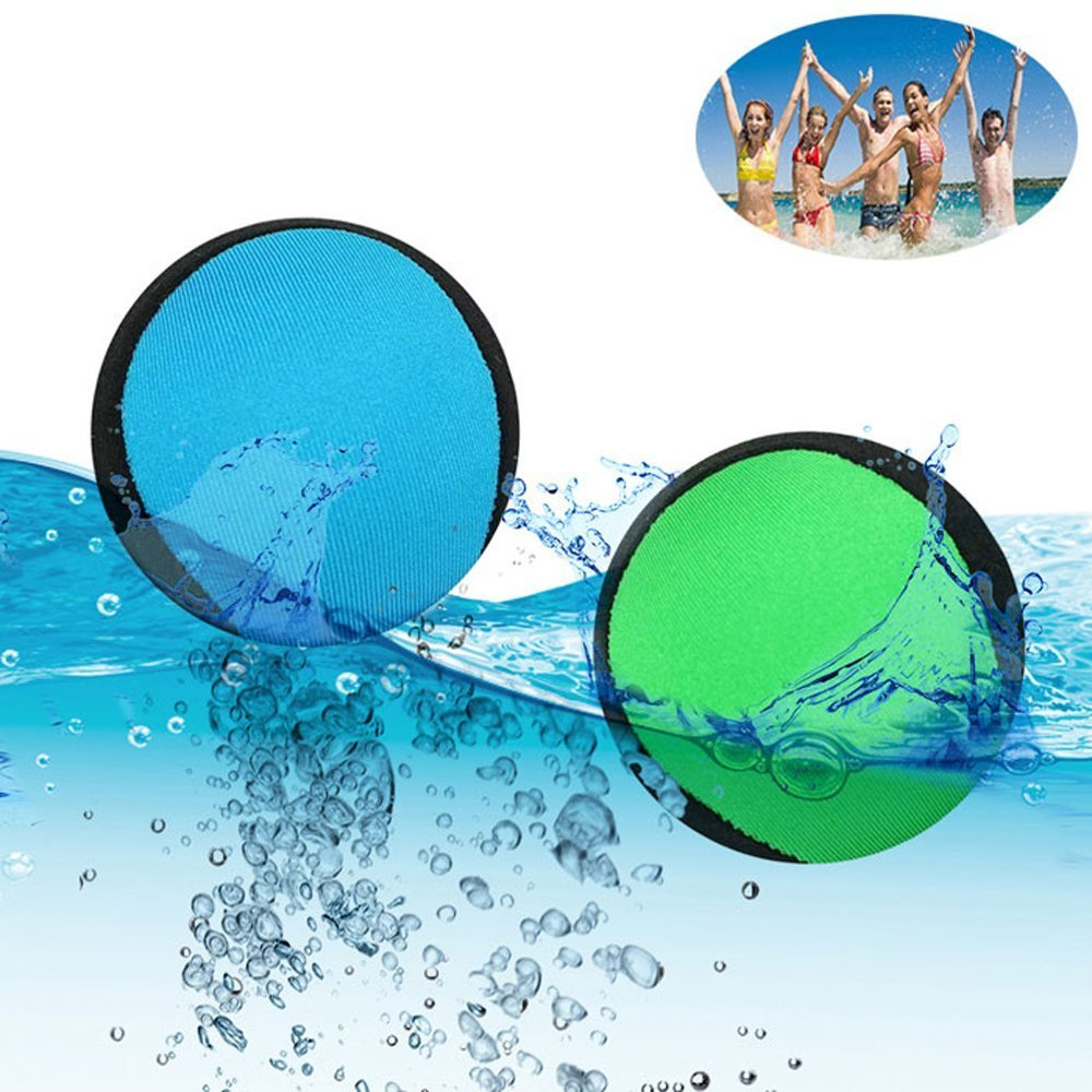 Carejoy Water Bouncing Ball, Surf Waterballs Jumping Skimming Balls for Skipping Fun Ball Pool Games, Pool Sea Lake Beach Toys for Family Friends Adults Kids by Carejoy