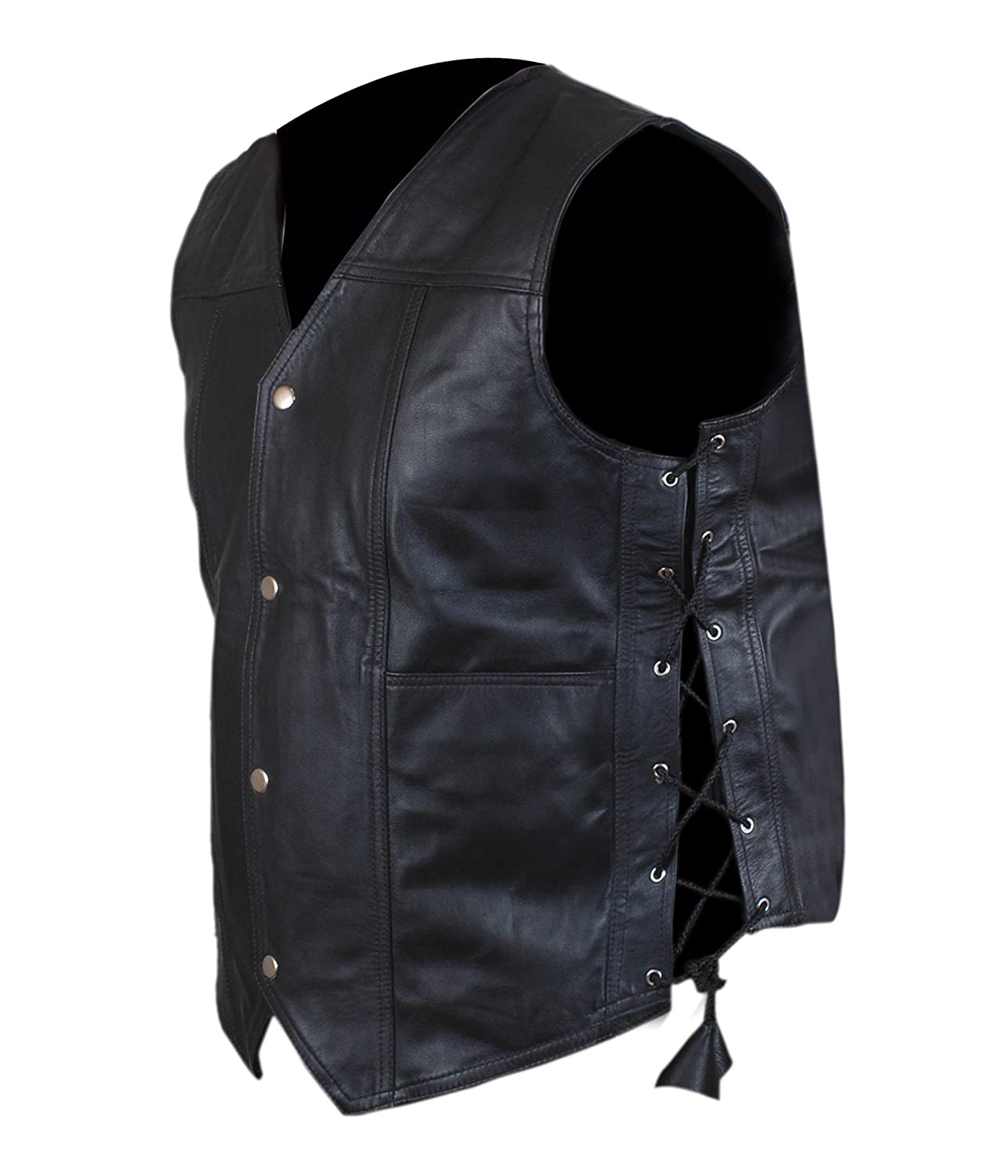 Daryl Dixon Angel Wings Leather Vest Jacket The Walking Dead Governor BNWT