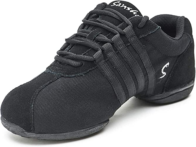 Sansha Dyna-Site Dance Sneaker,Black,10