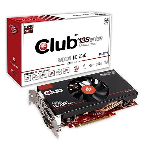 CLUB3D CGAX-787613 - Tarjeta gráfica (Radeon HD 7870, 4096 x 3112 Pixeles, AMD, 2 GB, GDDR5-SDRAM, 256 bit) Negro, Rojo