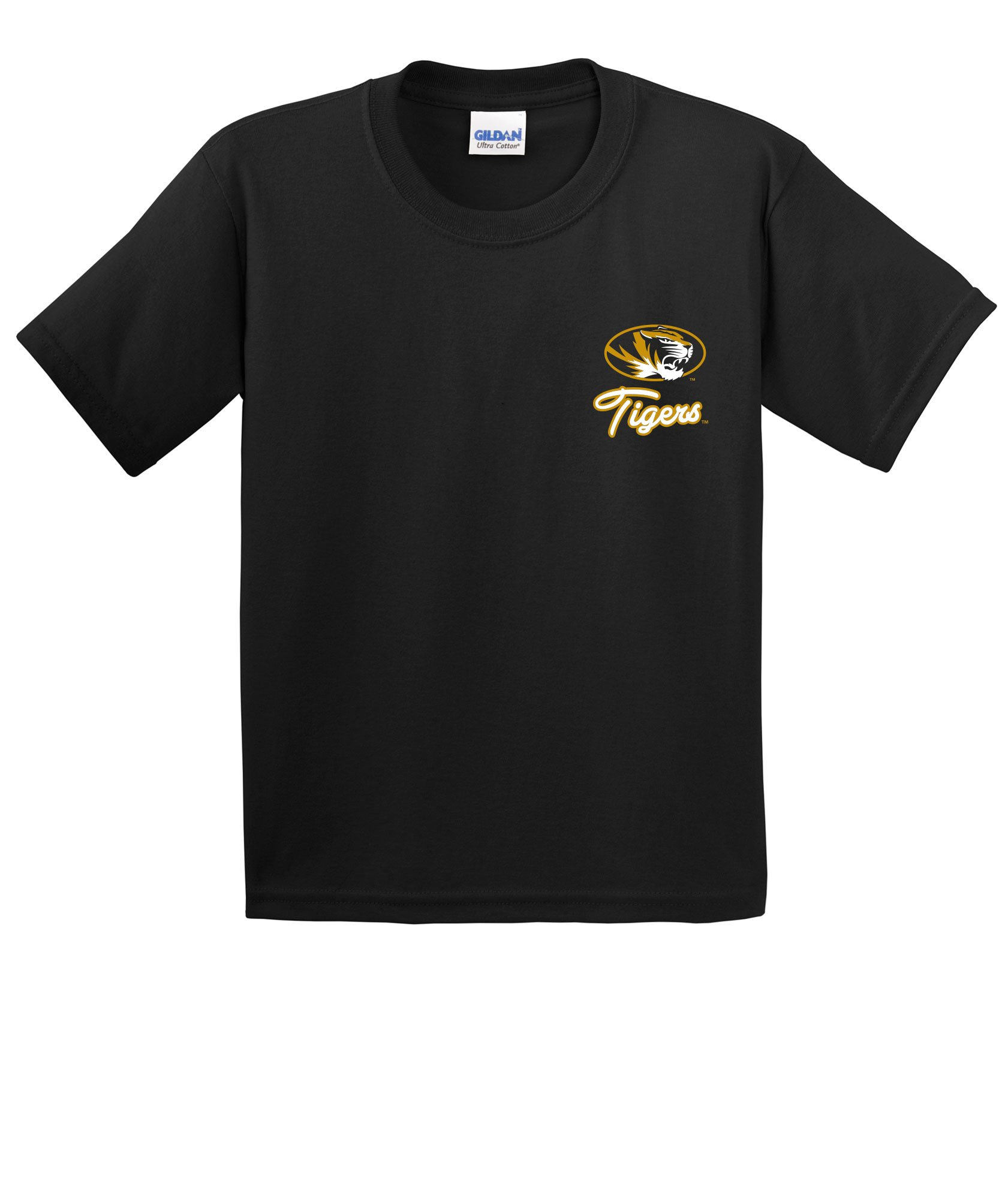 Image One NCAA Cheer Loud Youth Short Sleeve Cotton T-Shirt, Youth X-Large,Black, Missouri Tigers