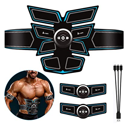 ZUYE EMS Muscle Stimulator Abs Stimulator Belt USB Rechargeable Abdominal Toner