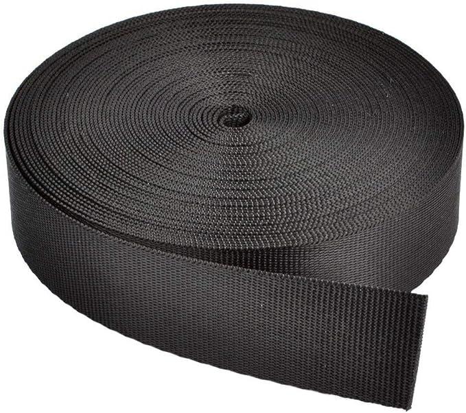 10 yards 3//8 inch heavy weight nylon webbing for key fob strap gray ZC55 10mm