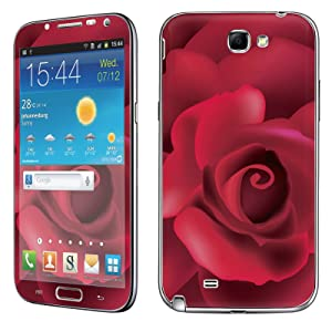 Samsung [Galaxy Note 2] Phone Skin - [SkinGuardz] Full Body Scratch Proof Vinyl Decal Sticker with [WallPaper] - [Red Rose] for Samsung Galaxy [Note 2]