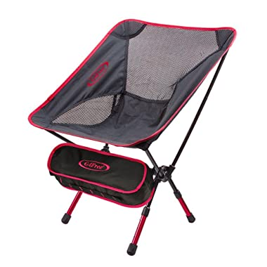 G4Free Lightweight Portable Camping Chairs Folding Outdoor Backpacking Chair for Sports Picnic Beach Hiking Fishing,Low Back Camp Chair with Adjustable Height