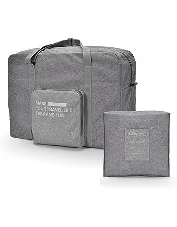 999de5608 vorcool plegable Bolsa de viaje de equipaje Capacidad Grande con cremallera  (gris)