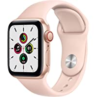 $279 » New Apple Watch SE (GPS + Cellular, 40mm) - Gold Aluminum Case with Pink Sand Sport Band