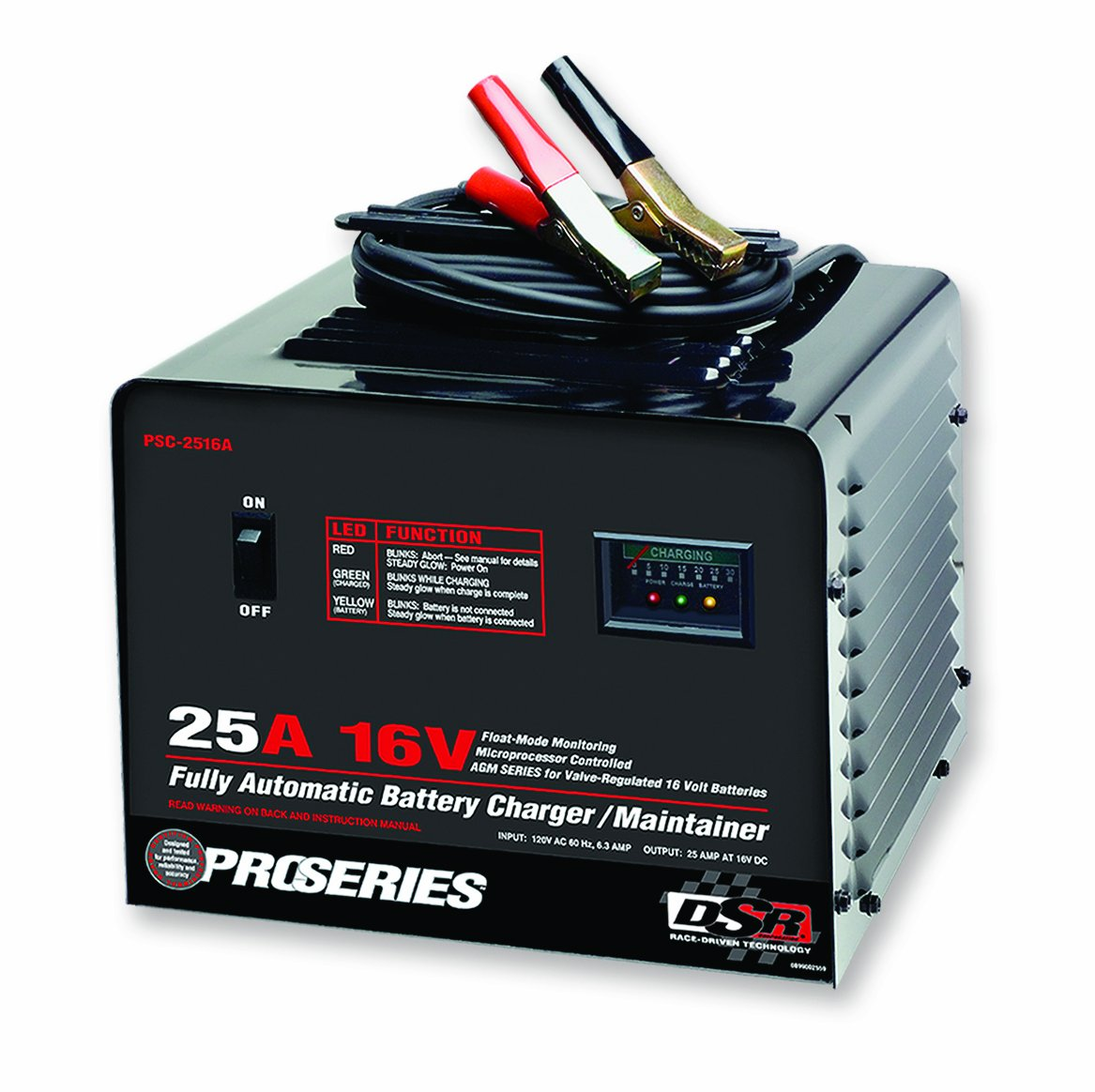 Schumacher PSC-2516A DSR ProSeries 25 Amp 16 Volt Automatic Specialty Battery Charger/Maintainer