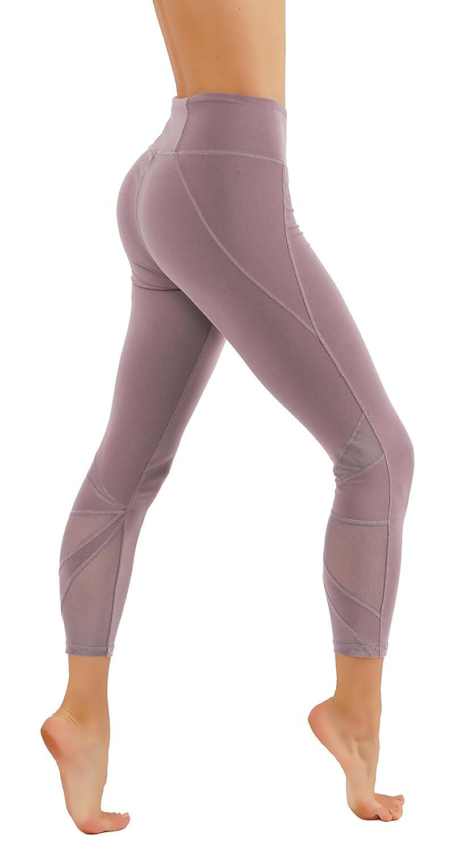 CodeFit Yoga Pants with Pockets Mesh Cutouts Leggings Power Flex Dry-Fit