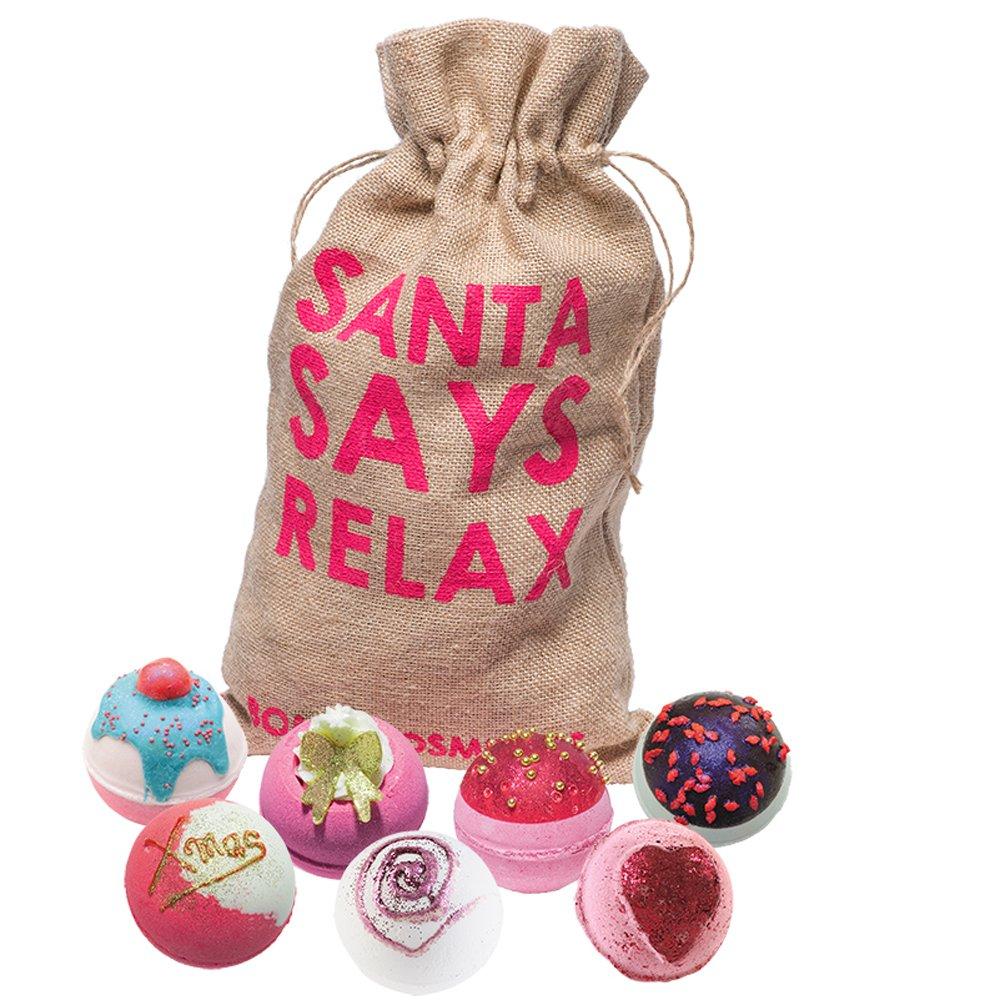Bomb Cosmetics Santa says relax fatto a mano in iuta, confezione regalo GSANSAY03