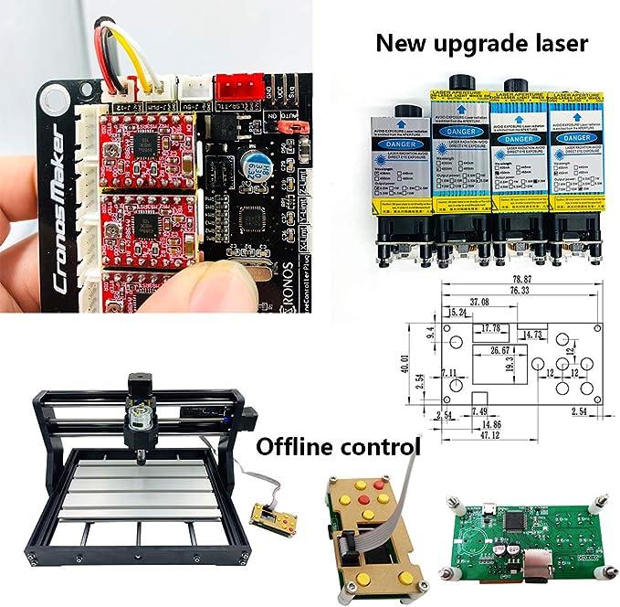 CNC CNC 3018 Pro Graviermaschine GRBL Commande 3 axes Mini routeur en bois avec tige dextension ER11 5 mm