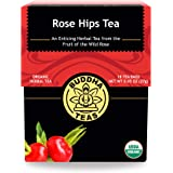 Buddha Teas Organic Rose Hips Tea | 18 Bleach-Free Tea Bags | Immune Boosting Qualities | Good Source of Vitamin C and Antiox