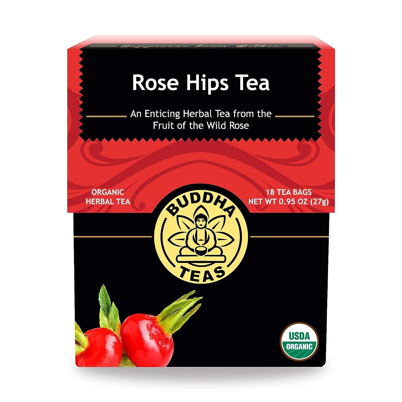 Buddha Teas Organic Rose Hips Tea   18 Bleach-Free Tea Bags