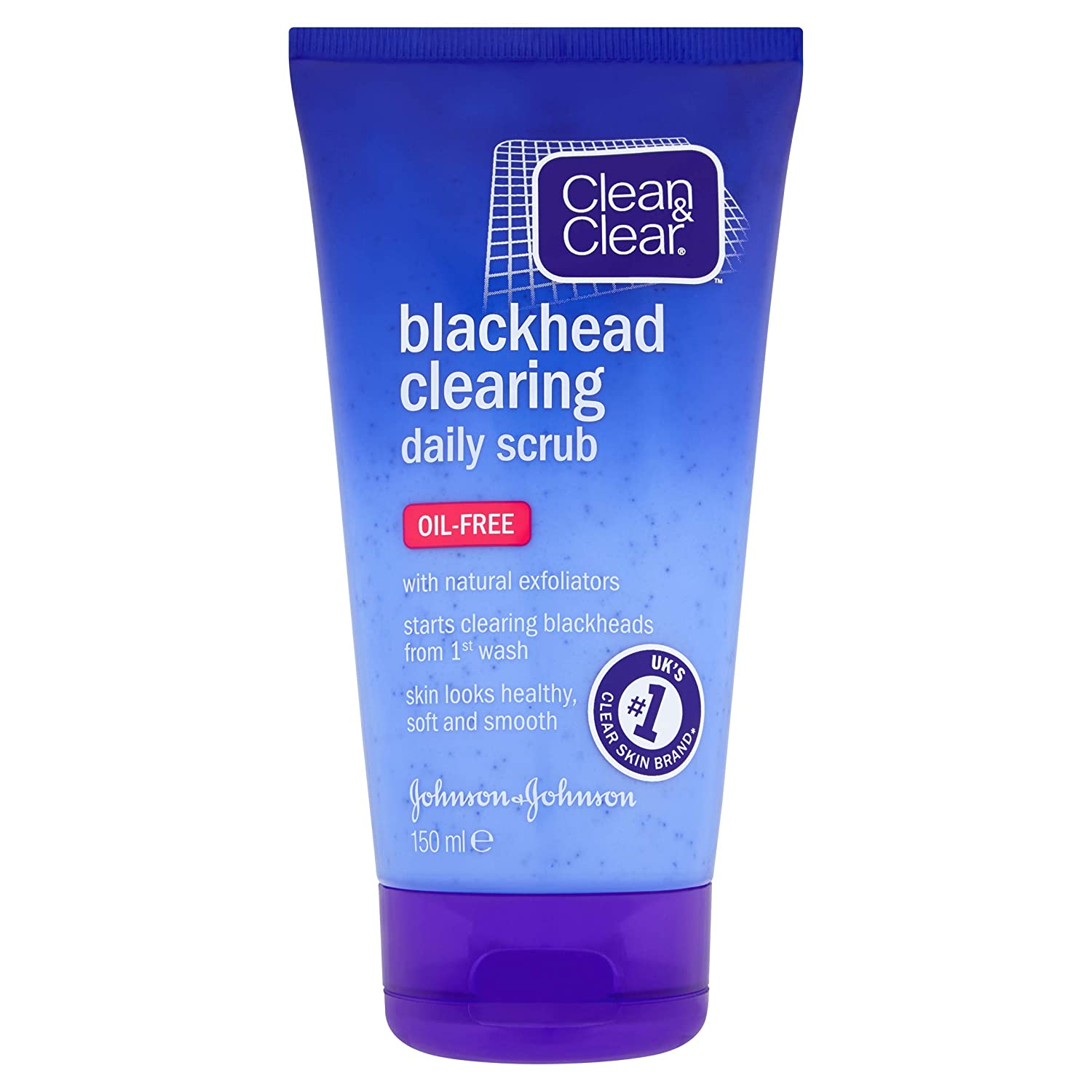 Clean and Clear Blackhead Clearing Daily Scrub, 150ml Johnson and Johnson 3309705