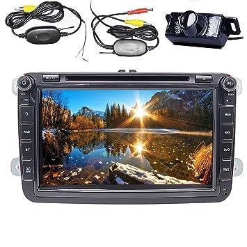 Para Volkswagen coche estéreo 8Inch 2DIN DVD de GPSBluetooth DVD/CD/USB/SD