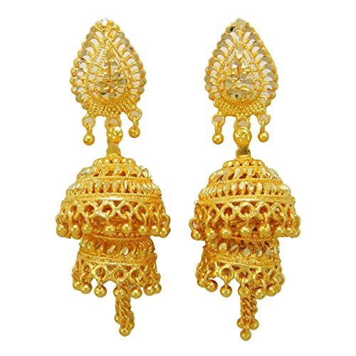 219015c37894 India Tradicional Étnico De La Joyería Regalo Pendientes Goldplated Boda  Bollywood Para Ella