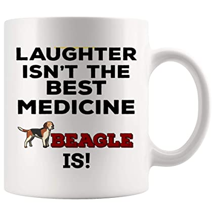 f15eb1736 Beagle Dog Mug Coffee Cup Gift - Laughter Isn't Best Medicine Beagle Is -