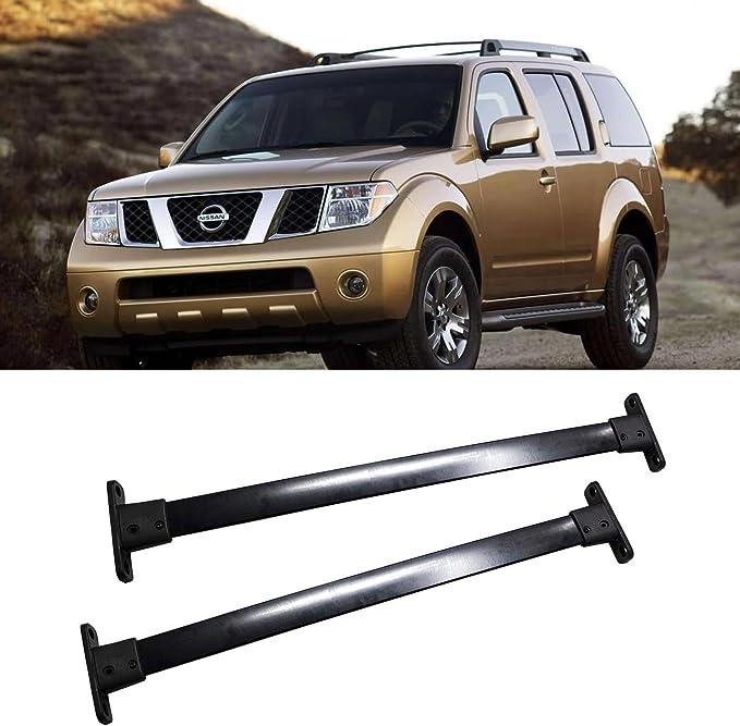 ANTS PART Cross Bars for 2005-2012 Nissan Pathfinder Top Cargo Roof Rack Pair Set