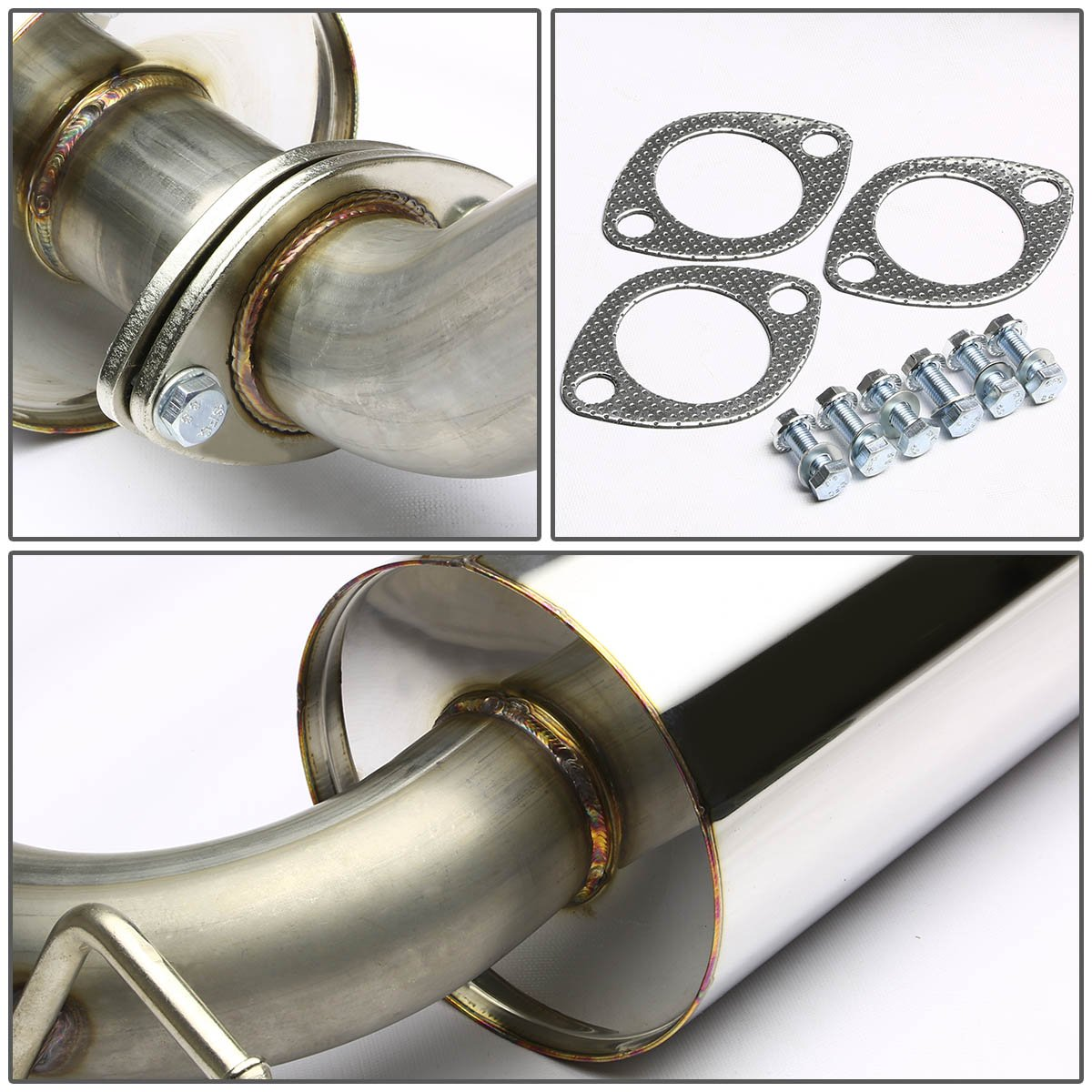 For Ford Focus ZX3//ZX5 Stainless Steel 4.5 inches Rolled Muffler Tip Catback Exhaust System
