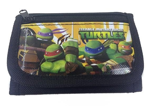 Ninja Turtles Black Trifold Wallet: Amazon.es: Juguetes y juegos