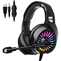 Amazon Price History for:ZIUMIER Gaming Headset with Microphone, PS4 Headset Xbox One Headset with RGB Light, Wired PC Headset with 7.1 Stereo…